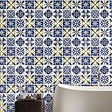 Pag Creative Casa Décor Adesivo autoadesivo in piastrelle in PVC per la stanza da bagno Cucina Decorazione da parete della parete della stanza da bagno 20cmx5m (7.87 x 196.85 pollici) (WTS007)