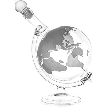 Spirituosen WunderschöNen Whisky-karaffe 750 Ml Und 2 Gläser Schnaps Wein Glas-behälter Flasche Globus Neu