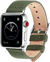 Fullmosa Compatibile Cinturino Apple Watch 44mm 42mm 40mm 38mm,8 Colori Canvas Nato Stile per Cinturino Iwatch...