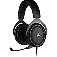 Corsair HS50 PRO Stereo Gaming Headset (Adjustable Memory Foam Ear Cups, Lightweight, Noise-Cancelling Detachable…