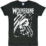 Logoshirt - Marvel Comics - Wolverine - Camiseta - Slim-Fit - Negro - Diseño Original con Licencia