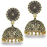 Jaipur Mart Metal Brass Jhumka Earrings for Women