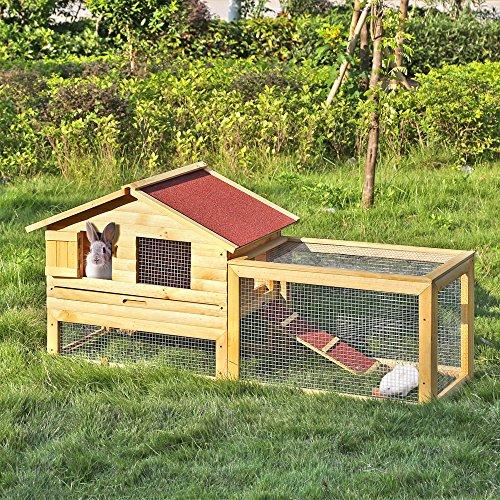 iKayaa Kaninchenstall Hasenstall Kleintierstall Hühnerstall Hühnerhaus Meerschweinchenstall