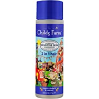 Childs Farm Organic Rhubarb & Custard 2 In 1 Shampoo & Conditioner, 250ml