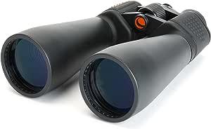 Celestron SkyMaster 15x70 Fernglas - Großfernglas mit 15-facher Vergrößerung und 70mm Objektivöffnung - inkl. Stativadapter und Tragetasche - für Natur- und Vogelbeobachtung und Astronomie
