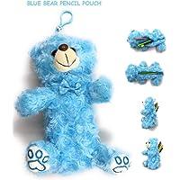 24x7 eMall Blue Bear Pencil Pouch Soft Toys for Children, Kids Favorite Pencil Box (3D Blue Bear)
