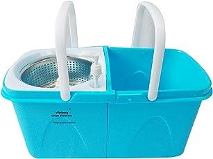 Winberg (R) Stainless Steel Dryer Double Bucket Magic Mop 360° Rotating Pole (Random Colour) WINDUL025