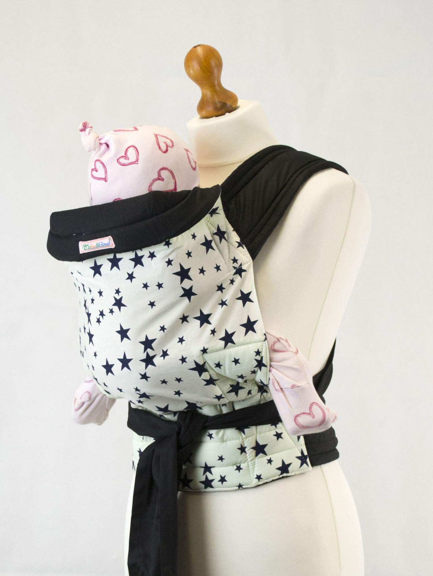 Palm and Pond Mei Tai Baby Sling - Blue Star