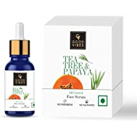 Good Vibes Tea Tree & Papaya Oil Control Face Serum, 10 ml Light Weight Absorbs Quickly Clarifying Formula For Oily Skin…