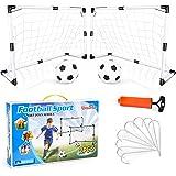 Dreamon Juego de 2 Puertas de Fútbol Infantil Portería de Fútbol y Bolas interactiva Juguete para Niños