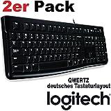 Logitech 920-002479 - Keyboard K120 (DE Layout | 2er Pack, Schwarz)