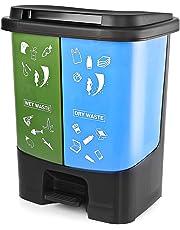 KETWAREPIN Garbage Waste Plastic Dustbin Kitchen Office Home & Commercial Dustbin Recycle Bin 2 in 1 (40 L)
