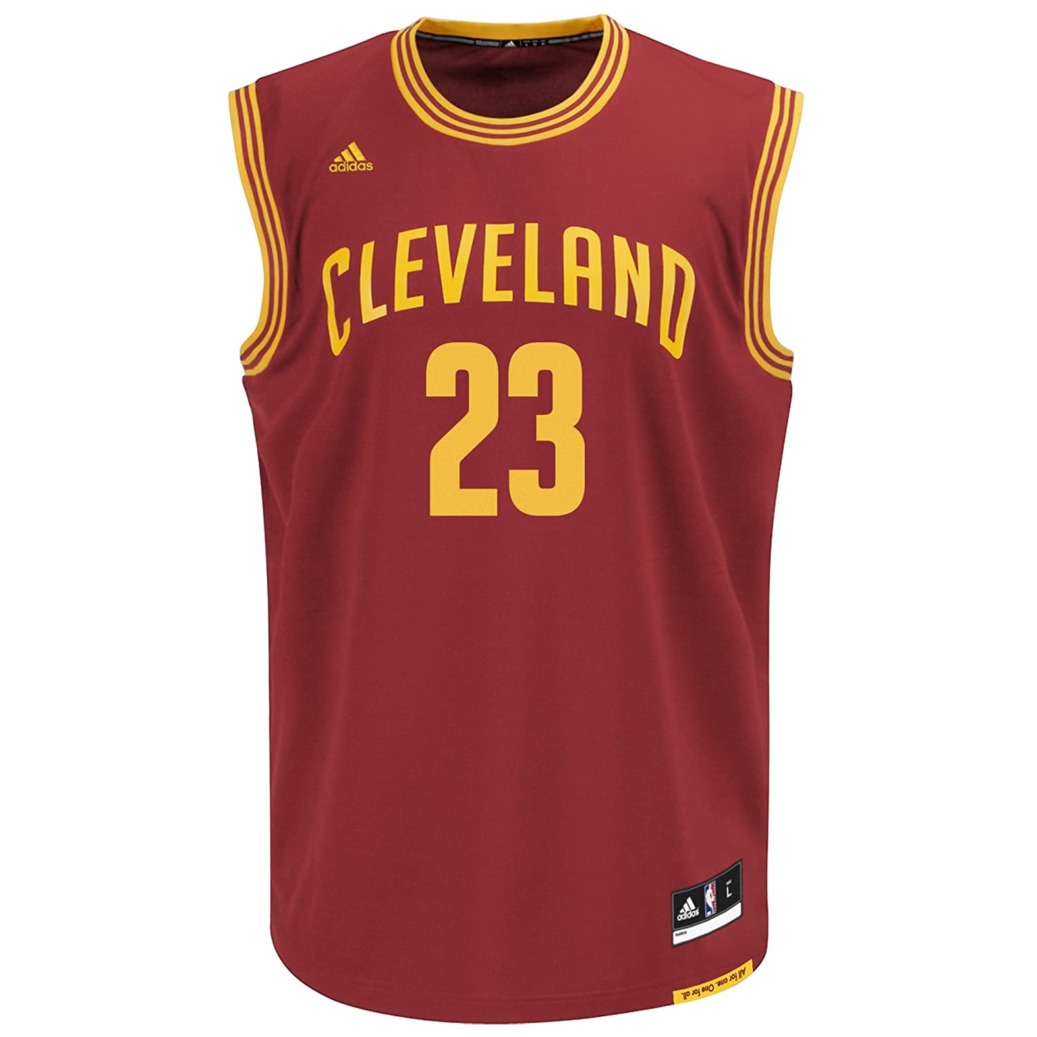24a9fed20d3 ... NBA Cleveland Cavaliers LeBron James 23 Mens Replica Jersey  Amazon.co.uk Sports Outdoors ...