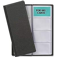 Porte Cartes de Visite pour 480 Cartes avec Intérieur Transparent   Protection des Cartes de Commercial   Idéal comme…
