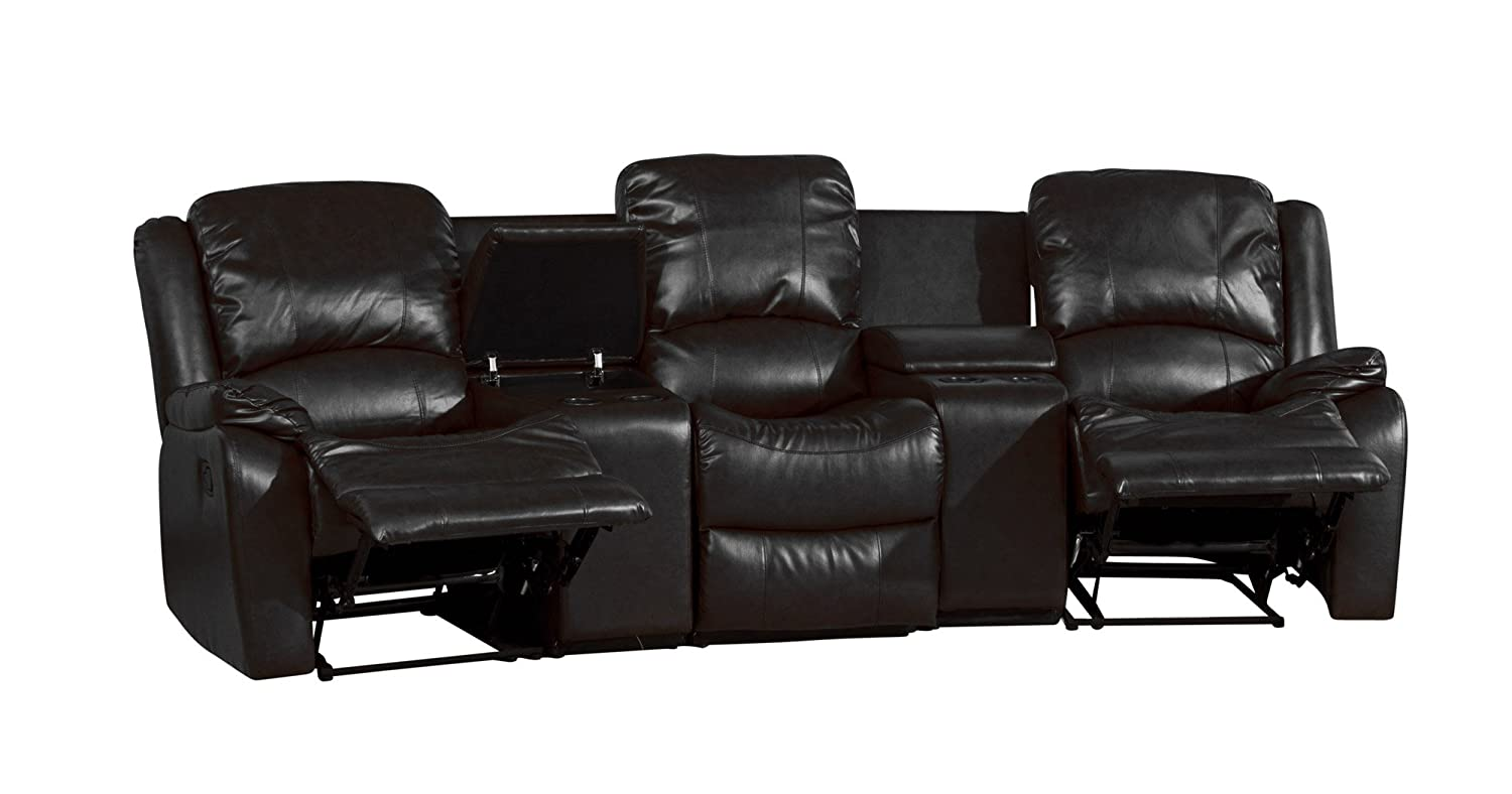 Sofa Collection Brand New Valencia Luxury Recliner Cinema Corner Sofa Leather Black 95 x 300 x 104 cm Amazon.co.uk Kitchen u0026 Home  sc 1 st  Amazon UK & Sofa Collection Brand New Valencia Luxury Recliner Cinema Corner ... islam-shia.org