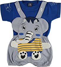 LK Vyapaar Pvt Ltd Elephant Face Romper Babasuit Dungaree for boy Girl Partywear