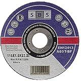 SBS Trennscheiben | 115 x 1,0mm | 10 Stück | INOX | Flexscheibe Profi Qulität Trennscheibe für Stahl, Edelstahl, INOX uvm.