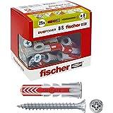 Fischer Duopower 544017 Pluggen met schroef, grijs