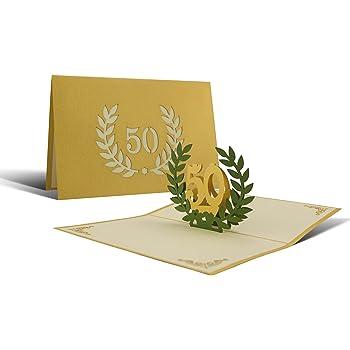 gl ckwunschkarte i karte goldene hochzeit einladung 50. Black Bedroom Furniture Sets. Home Design Ideas