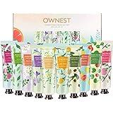 Ownest 10 pack Frutta Estrarre Profumo Crema Mani, Idratante cura della mano Crema Viaggi Gift Set con burro di karité per uo