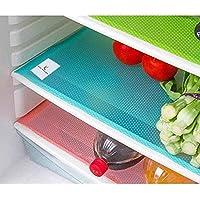 Kuber Industries Plastic 6 Piece Refrigerator Drawer Mat Set - Multicolour