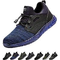 Gainsera Chaussures de Travail de sécurité Hommes Femmes Bout en Acier Chaussures de sécurité Anti-crevaison Protection…