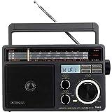 Retekess TR618 Draagbare Radio voor ouderen, FM AM SW Radio, Analoge Kortegolfradio, Ondersteuning voor USB-schijf, TF-kaart,