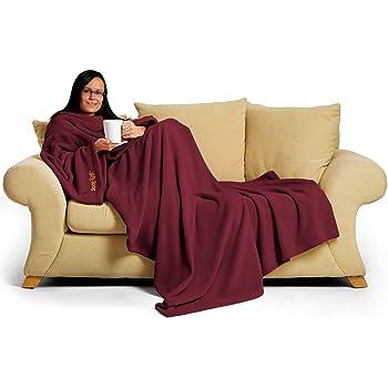 Snug Rug Deluxe en Polaire la Couverture avec Manches pour Adulte, mûre 60 x Porte, 214 x 152cm