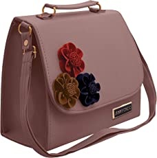 TAP FASHION Fancy Stylish PU Leather Women's Handbag, Sling Bag with Adjustable Strap for Ladies and Girls.