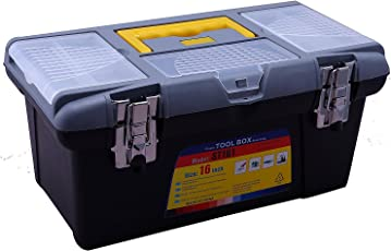 Novicz 1221 Plastic Tool Box with Organizer (Multicolor)
