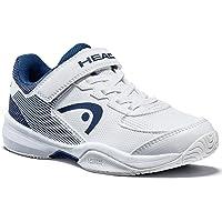 HEAD Sprint Velcro 3.0 JNR, Chaussures de Tennis Mixte, Blanc (White/Midnight Navy Whmn), 43.5 EU