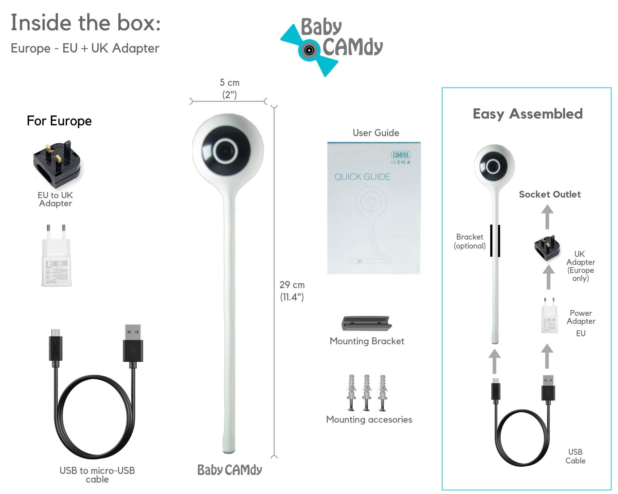 Baby CAMdy Lite⎮Smart Baby Monitor with Camera WiFi⎮APP iOS/Android (Sugar  CAMdy)