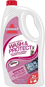 BISSELL Wash and Protect Pet Stain and Odour Carpet Cleaning Solution with Scotchgard: Amazon.co