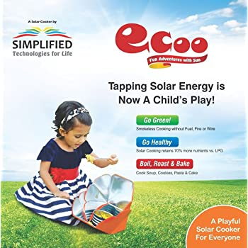 Ecoo Simplified Technologies Portable Solar Oven For Camping, Hiking, Picnic, Outdoor Activities,Learning Science For Kids
