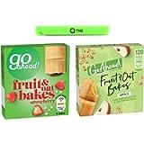 Go Ahead Bars Apple Fruit Bakes 6 x 35g With Go Ahead Strawberry Fruit Bake 6 x 35g Includes 1 Sealing Bag Clip