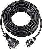 Brennenstuhl BREMAXX Verlängerungskabel (15m Kabel in schwarz, für den kurzfristigen Einsatz im Außenbereich IP44, einsetzbar bis -35 °C, öl- und UV-beständig)
