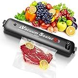 Vacuum Sealer, 2021 Upgraded Automatic Food Preservation Vacuum Air Sealer with 15 Sealing Bags,Food Sealing Machine Light We