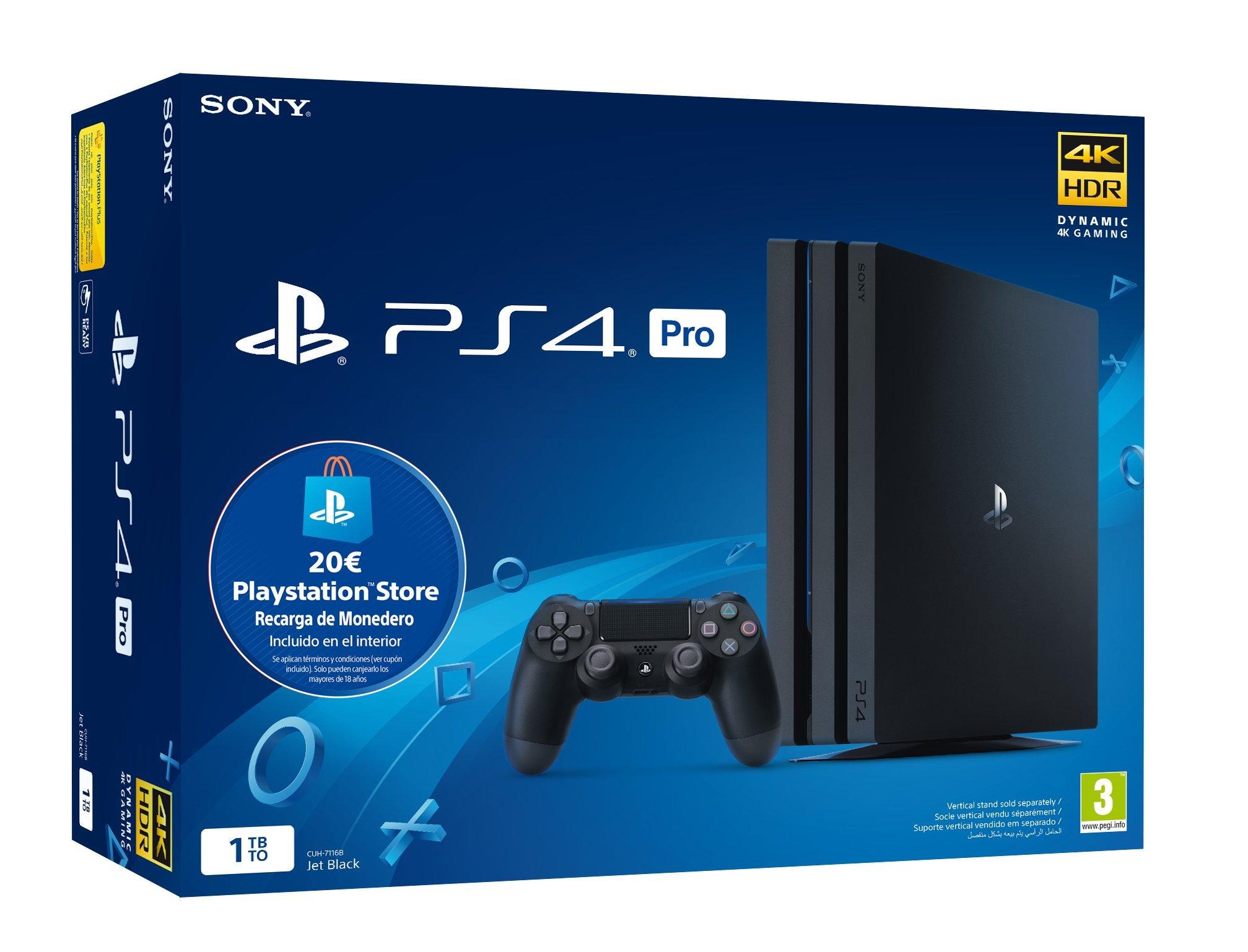 Playstation-4-Pro-PS4-Consola-de-1TB-20-euros-Tarjeta-Prepago-Edicin-Exclusiva-Amazon-nuevo-chasis-G