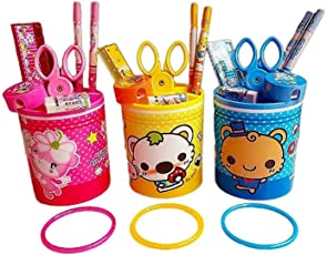 Grab Offers Fancy Pen Pencil Holder with Stationary Set for Boys and Girls (3 Pcs)