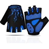 Faneam Mtb Half Finger Cycling Gloves Gel Padded Mitts Anti-slip Shock-absorbing Fingerless Gloves Outdoor Sports Summer Cycl