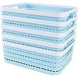 STARVA ST Lot de 5 Paniers de Rangement en Plastique, Boite Plastique de Rangement Portable pour Cuisine, Bureau, Salle de Ba