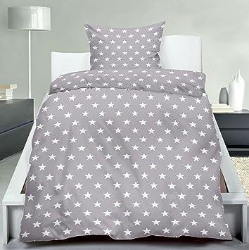 graue bettw sche mit sternen m belideen. Black Bedroom Furniture Sets. Home Design Ideas