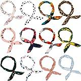 Wodasi 12Pcs Bandeau Fil de Fer, Bandeaux Cheveux Femme Couleur Fil Flexible Headbands Accessoires pour Cheveux Bande de Chev