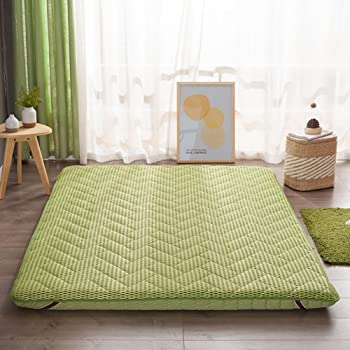 Hxxxy Tatami Floor Mat,Futon Mattress Topper Plenty Thick Traditional Japanese  Futon Japanese Bed