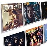 HIIMIEI Lot de 6 supports muraux pour disques vinyles et photos, 31,6 x 13,2 x 5,6 cm, support pour disques vinyles en acryli