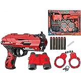 FunBlast High Speed Manual Soft Bullet Gun with 6 Foam Bullets, Handcuffs and Telescope for Kids/Boys/Children | Toy Gun…