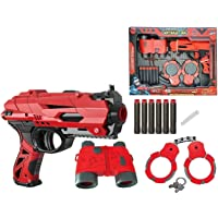 FunBlast High Speed Manual Soft Bullet Gun with 6 Foam Bullets, Handcuffs and Telescope for Kids/Boys/Children | Toy Gun…