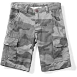 Phorecys Pantalones cortos tipo cargo ligeros con múltiples bolsillos para niño de 3 a 14 años