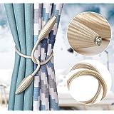 Home Cloud Curtain Holder tieback/Alloy Curtain Tieback/Drape tie Backs, Decorative Unique Design 2 pcs(Mulitcolor) (Light Go