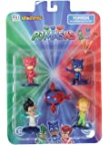 Pj Masks Pencil Toppers Blister 5 (S1) - Owlette, Romeo, Owl Glider, Catboy, Greg for Kids 3+ & Above
